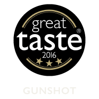 Gunshot Gin - Great Taste Awards, awarded in 3 Stars 2016.